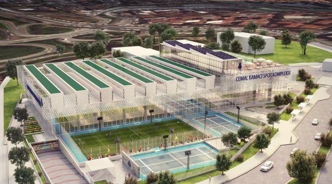 Cemal Kamacı Spor Kompleksi yüksek kapasiteli hale getiriliyor