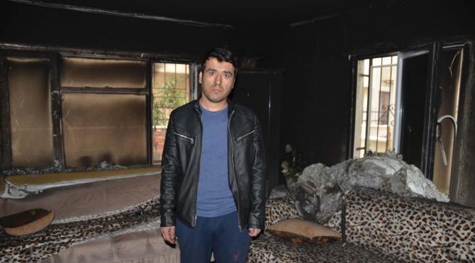 2'si otistik 3 çocuklu aile yangın yüzünden zor durumda kaldı