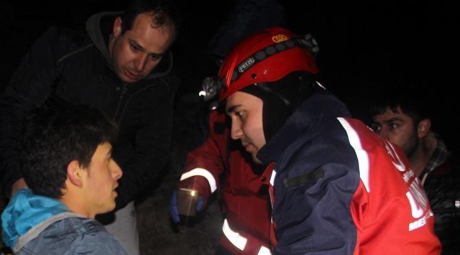 Erciyes'te 6 saat mahsur kaldı