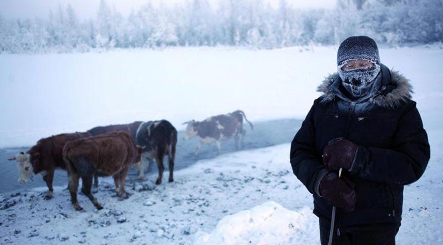 Havanın eksi 70 dereceye ulaştığı dünyanın en soğuk köyü