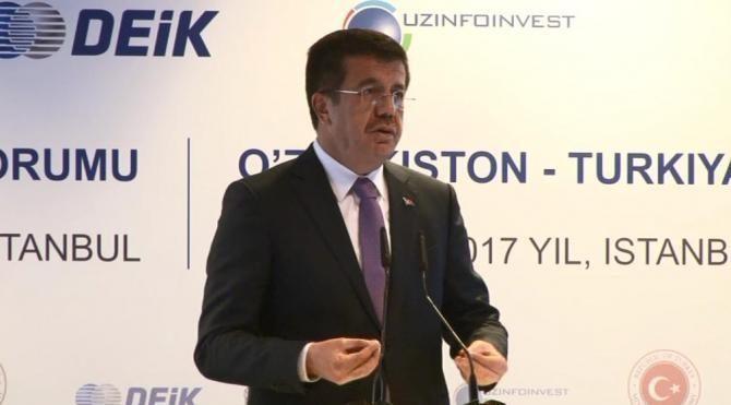 Nihat Zeybekçi TürkiyeÖzbekistan İş Forumu'na katıldı