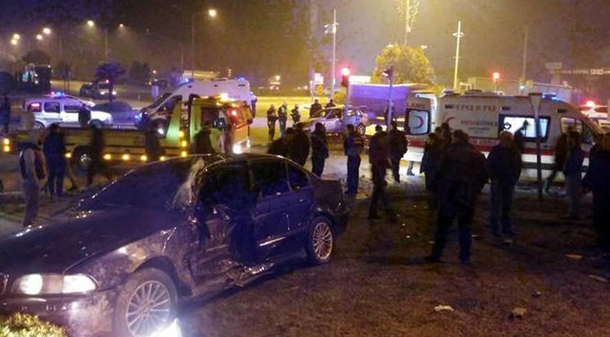 Manisa'da korkunç kaza: 10 yaralı
