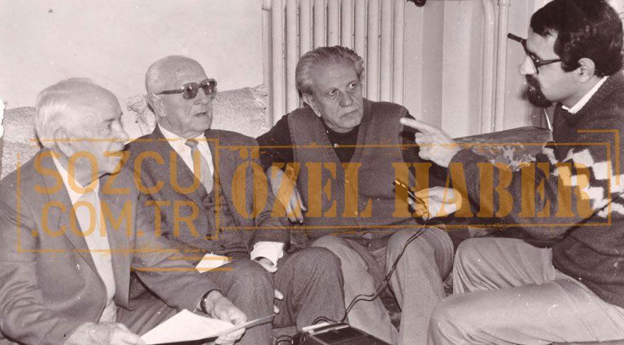 10- İşte Gavur Mümin'in Osmanzade Ailesi'nden en yakın akrabaları… 1980 yılı boyunca bu büyük kahramanı defalarca buluştukları Yaşar Aksoy'a anlattılar. Tarih öğretmeni Osmanzade Saruhan Aksoy, Galatasaray ve Milli takımın ünlü futbolcusu Osmanzade Lütfü Aksoy (Lap Lap Lütfü) ve Diş Doktoru Osmanzade Osman Nail (ünlü Çuval Osman)… (Fotoğraf:Ahmet Aydın)