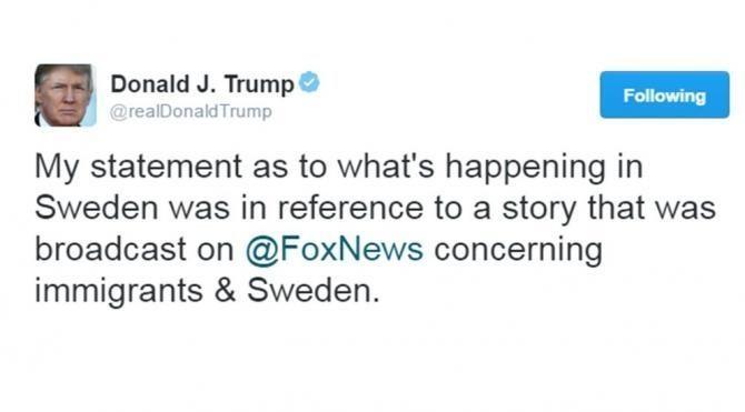 Trump'ın İsveç'le ilgili sözleri alay konusu oldu