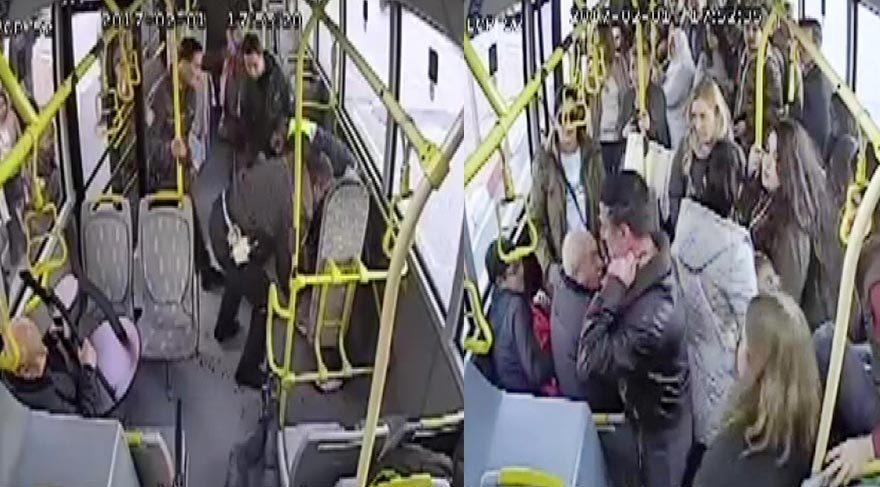 Halk otobüsünde boğazına bıçak dayayıp, polise direndi