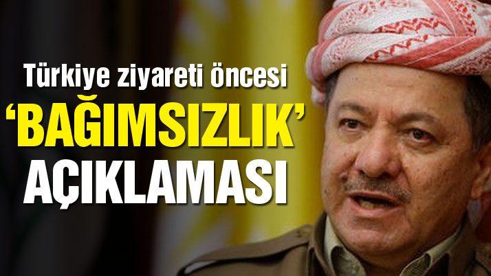 Barzani, Türkiye ziyareti öncesi konuştu: Bağımsızlık doğal hakkımız