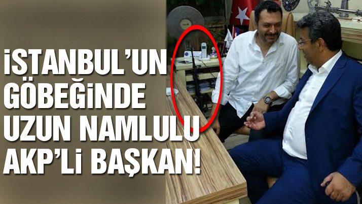 İstanbul'un göbeğinde uzun namlulu başkan!