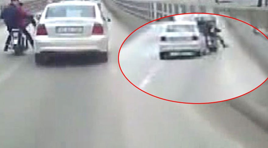 Image result for motosiklete çarpıp kaçma