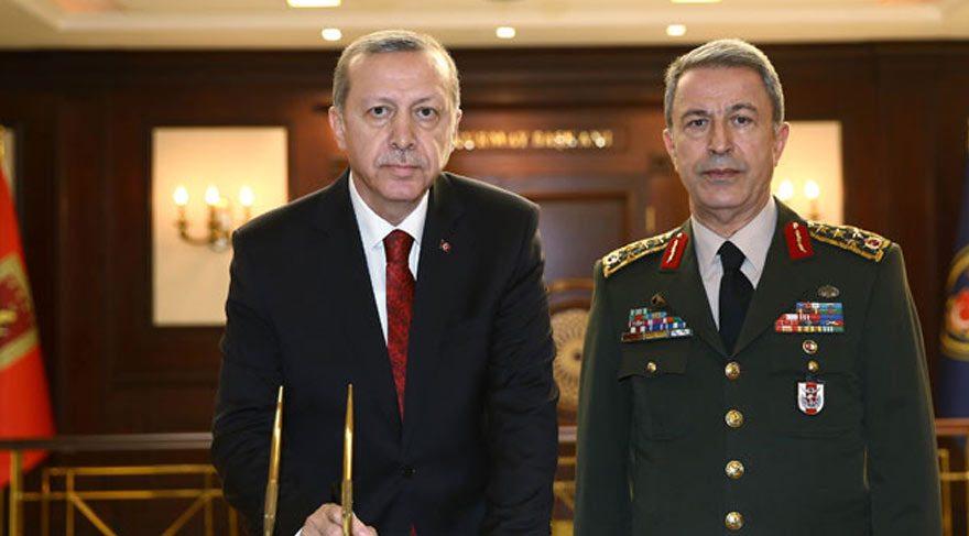 Cumhurbaşkanı Erdoğan ile Org. Hulusi Akar görüşmesi sona erdi