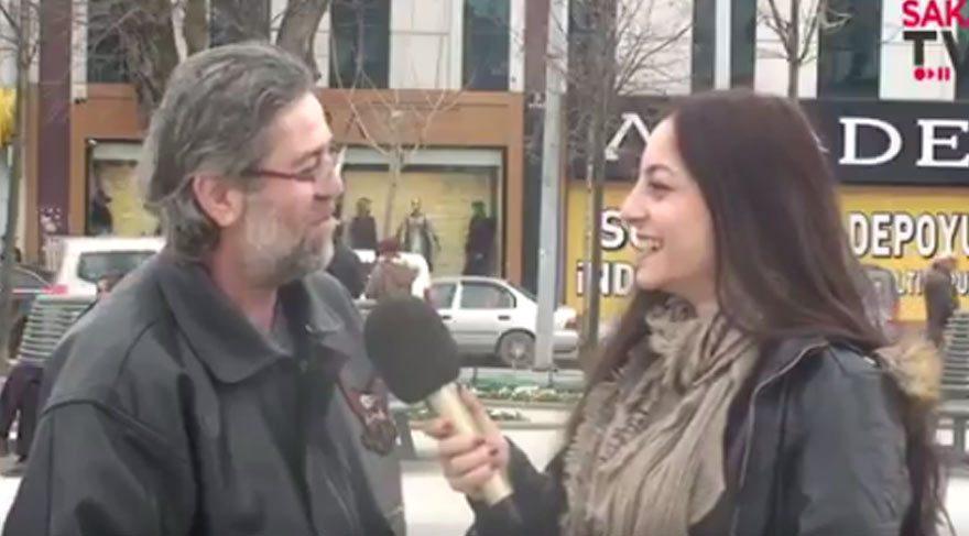 Vatandaş başkanlığı eleştirdi muhabir gülerek cevap verdi