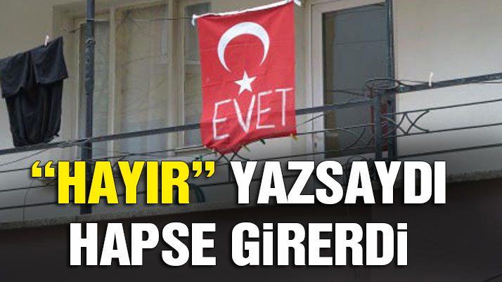 Türk Bayrağı'nı bile 'Evet'e alet ettiler