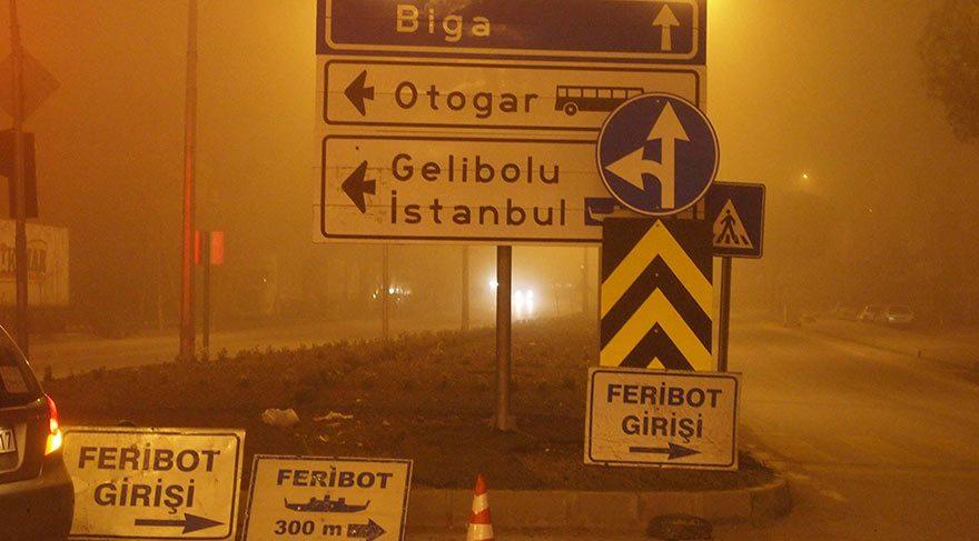 Çanakkale'de sis deniz ulaşımını durdurdu