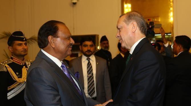 Cumhurbaşkanı Erdoğan, Pakistan Başbakanı Şerif'i kabul etti