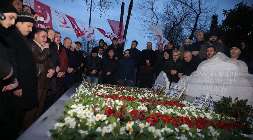 Prof. Dr. Necmettin Erbakan vefatının 6'ncı yılında kabri başında anıldı