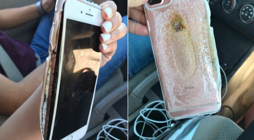 Aniden iPhone 7'den dumanlar çıkmaya başladı ve eridi!