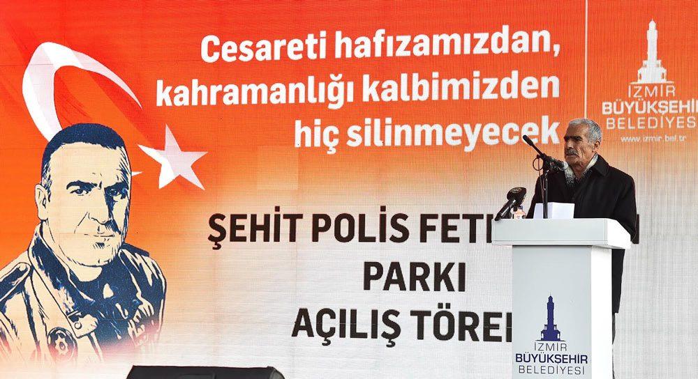 FOTO:SÖZCÜ- Törende şehit babası Mehmet Zeki Sekin duygusal bir konuşma yaptı.