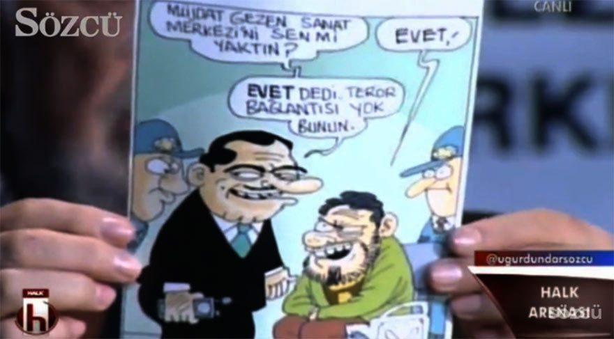 Müjdat Gezen manidar karikatürü alkışladı