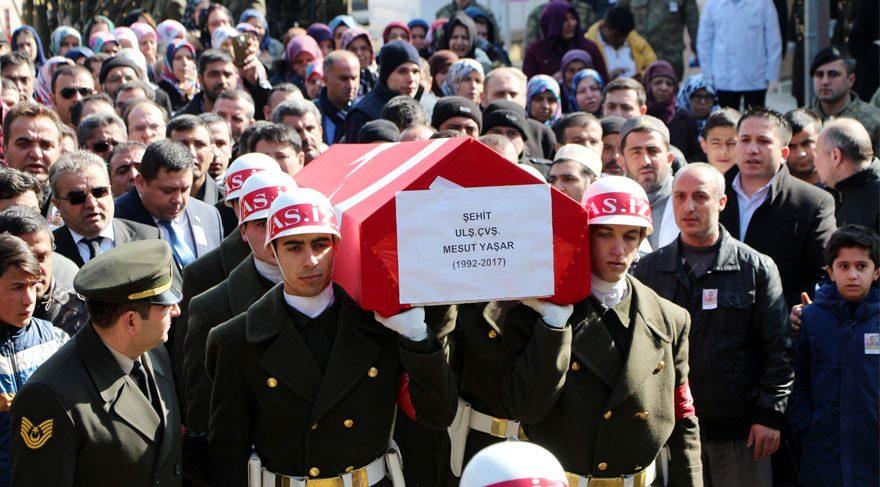 Kayseri'de 48 gün sonra 15'inci şehit
