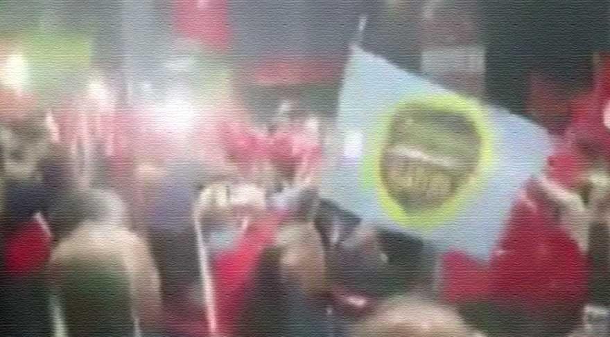 Ülkücüler Akşener'le beraber İzmir Marşı söyledi!