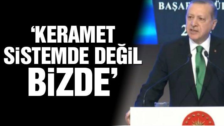 Erdoğan'dan 'sistem' yorumu