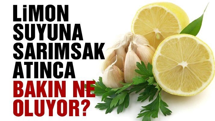 Limon ve sarımsağın faydaları