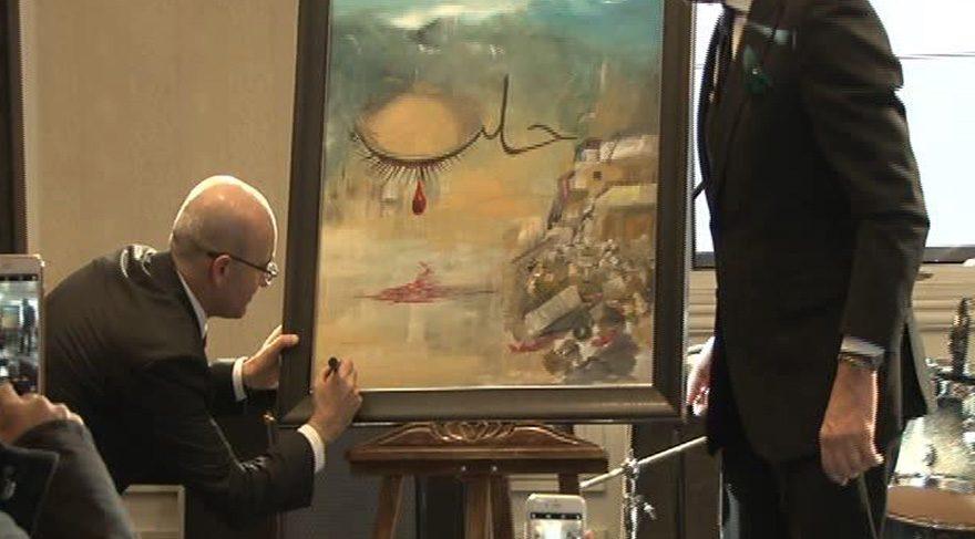 Başbakan Yardımcısı Şimşek'in 'ağlayan Halep' tablosuna 151 bin TL