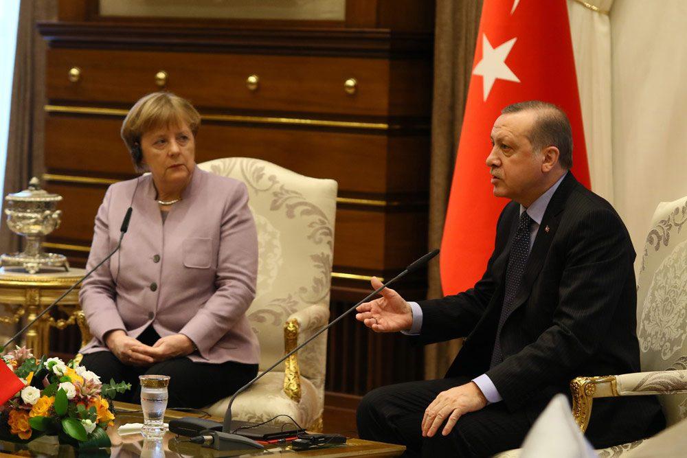 FOTO:İHA - Almanya Başbakanı Angela Merkel dünkü ziyaretinde Cumhurbaşkanı Erdoğan ve Başbakan Yıldırım ile görüşmüştü.