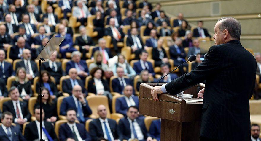 Cumhurbaşkanı Recep Tayyip Erdoğan Ak Saray'da turizmcilere seslendi. Fotoğraf: İHA