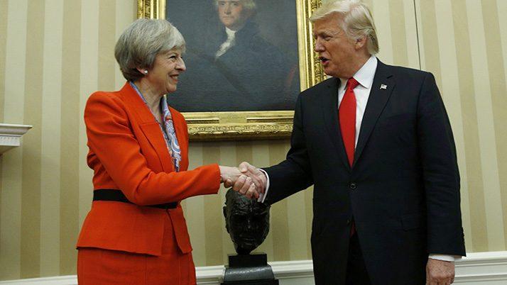 İngiltere Başbakanı Theresa May ve ABD Başkanı Donald Trump Beyaz Saray'da Fotoğraf: REUTERS