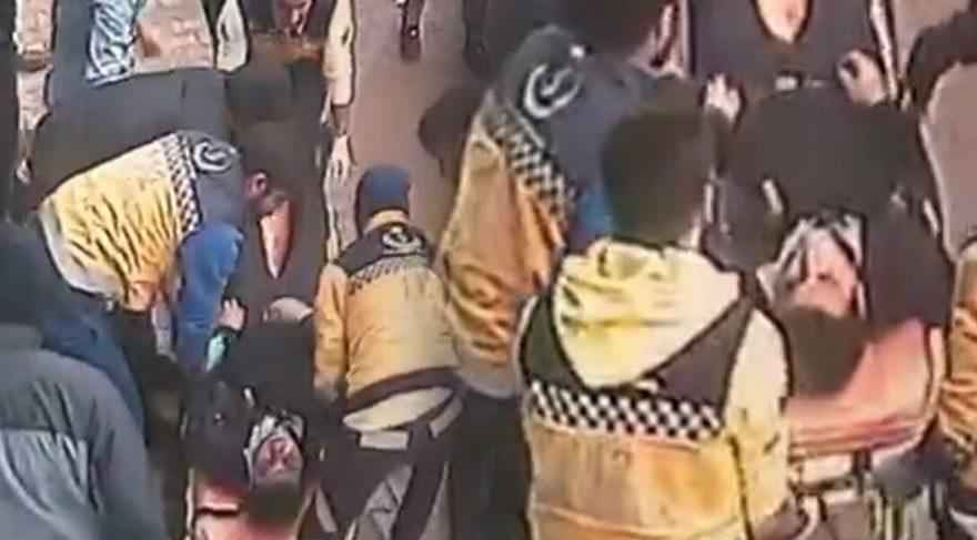 Yaşanan olay sonrası polis memuru bayıldı.