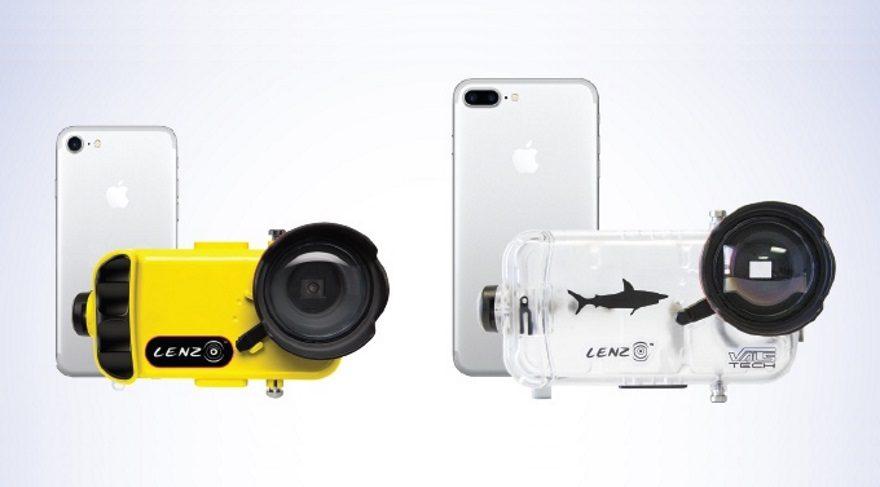 iPhone 7'yi su altı kamerasına dönüştüren kılıf