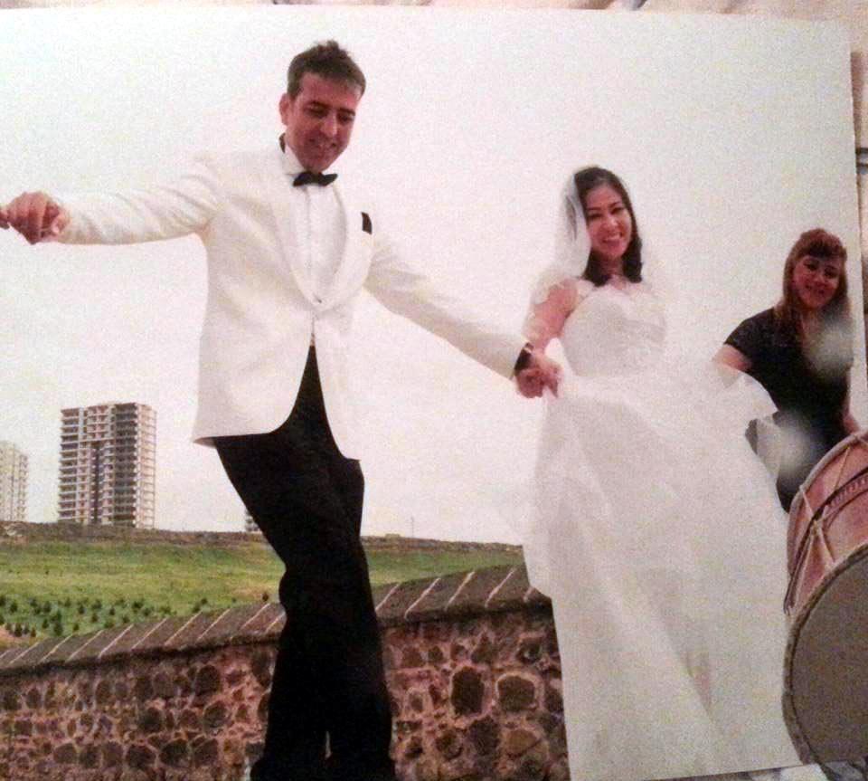 FOTO:DHA - Aydın çiftinden geriye düğün fotoğrafları kaldı...