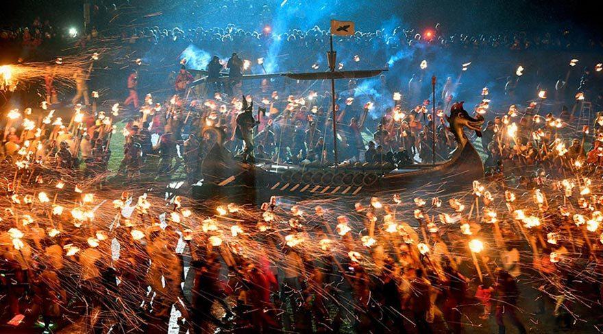 İskoçya'daki Viking Festivali'nden etkileyici kareler