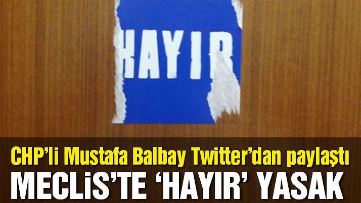 CHP'li vekilin odasının kapısına yapıştırdığı 'hayır' etiketi söküldü