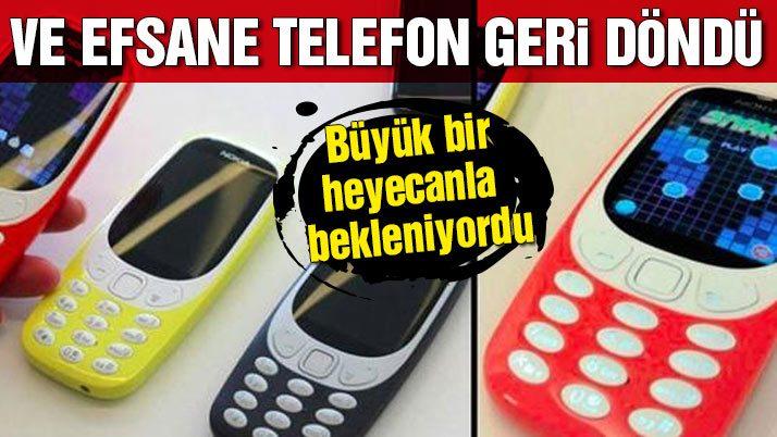 Efsane telefon Nokia 3310 geri döndü! Nokia 3310 fiyatı ne kadar?