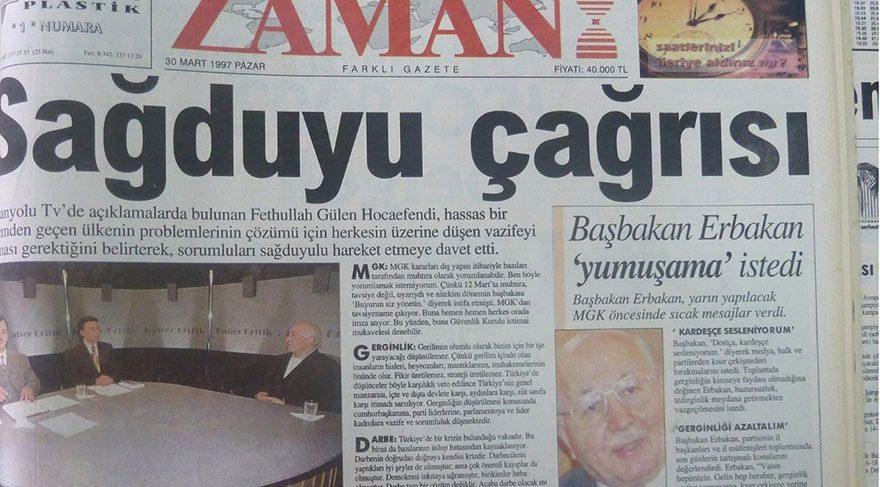 ABD'de yaşayan FETÖ'nün firari elebaşı Fetullah Gülen, 1997 yılında verdiği röportajda başkanlık sistemine sıcak baktığını anlatmıştı. O sözler, FETÖ'nün yayın organı gazeteye yansımıştı.