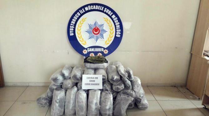 Şanlıurfa'da uyuşturucu operasyonu: 8 gözaltı