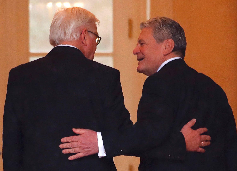 Eski Cumhurbaşkanı Joachim Gauck ile birlikte.