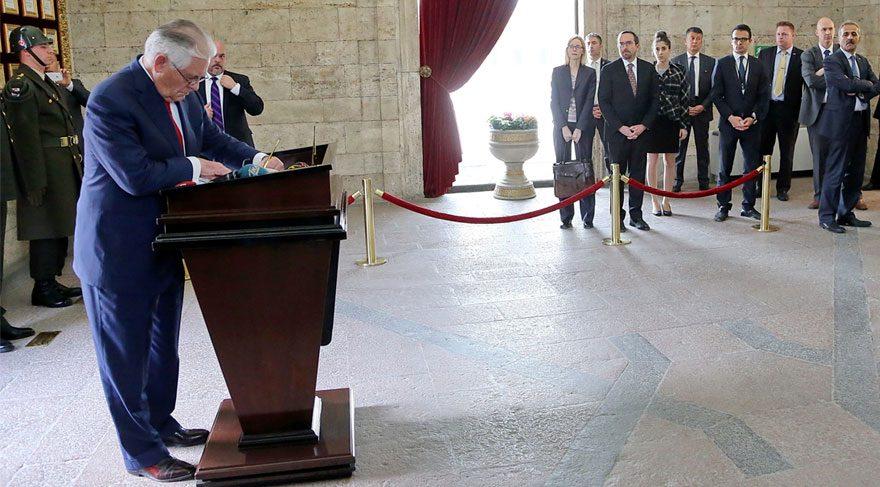 Rex Tillerson: Büyük ve üstün lider Mustafa Kemal Atatürk'e saygılarımı sunuyorum