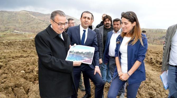 Yeni Şırnak'ın ilk parkı 83 dönümlük alanda yaplıyor