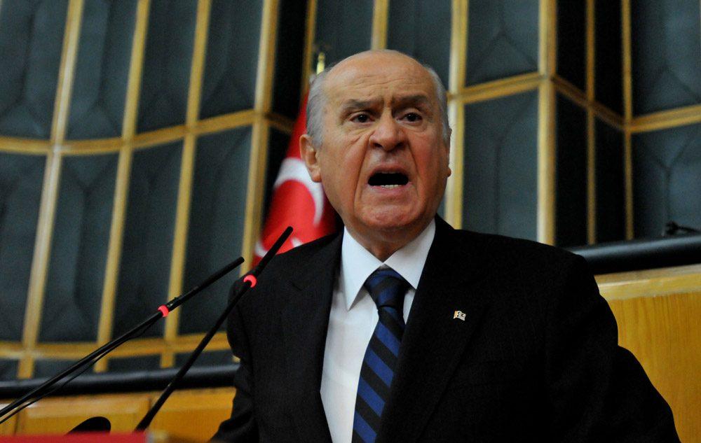 FOTO:SÖZCÜ- MHP lideri Bahçeli partisinin dünkü grup toplantısında, Hürriyet yazarı Selvi'ye çok sert sözlerle yüklendi.