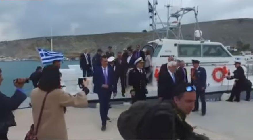 Son dakika haberi… Yunan Cumhurbaşkanı ve başkomutanı Keçi Adası'na çıktı