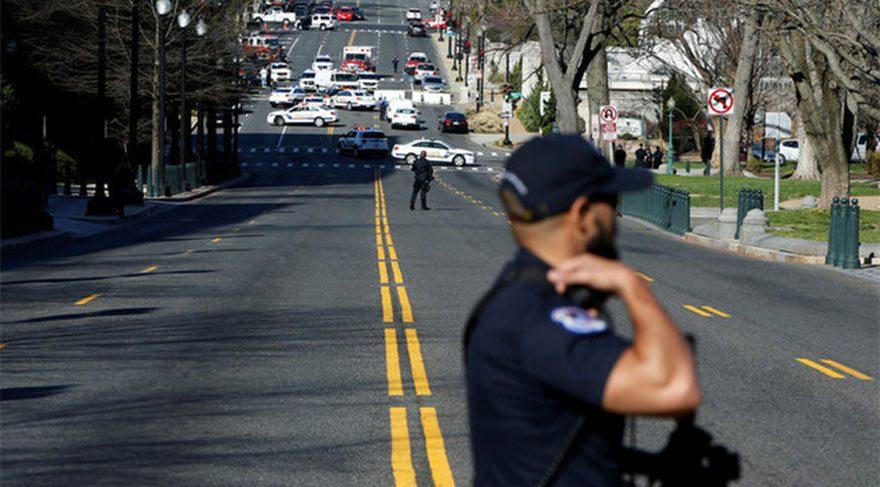 ABD Kongre binası yakınlarında silah sesleri! Aracıyla ezmeye çalıştı