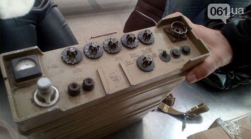 Askeri radyo istasyon cihazı. (FOTOĞRAFLAR: Ukrayna Devlet Gümrük Servisi)