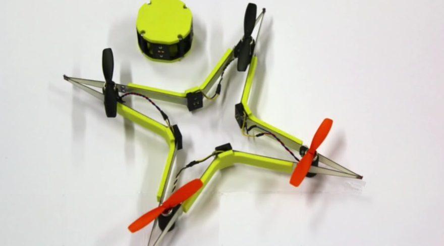 Böceklerden ilham alan esnek helikopter drone