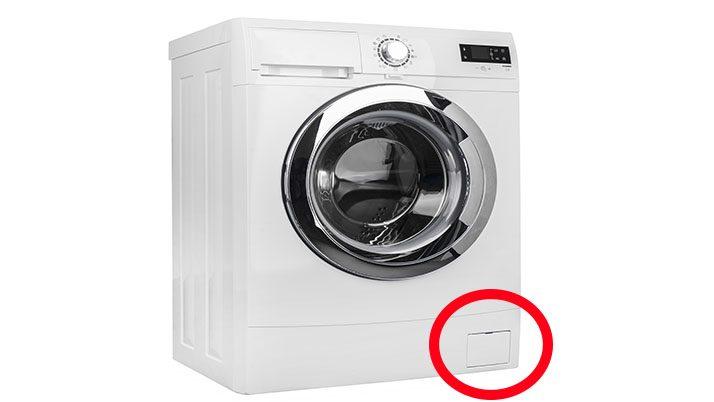 Çamaşır makinesinin köşesindeki kapak ne işe yarıyor?