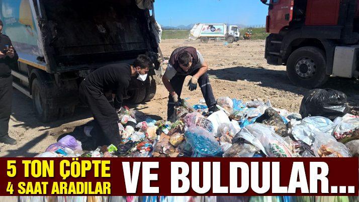 Çöpe yanlışlıkla atılan paralar için belediye seferber oldu