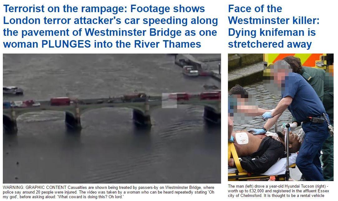 FOTO: DAILY MAIL/ İngiliz Daily Mail gazetesinin internet sitesinde saldırıyı gerçekleştiren teröristin fotoğrafı yayınlandı.