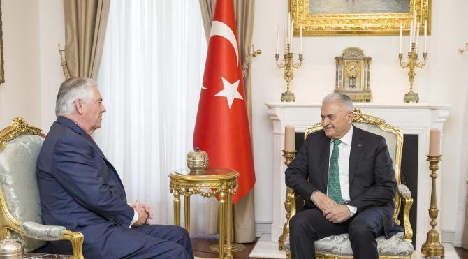 Başbakan Yıldırım, ABD Dışişleri Bakanı Rex Tillerson'ı kabul etti (2)