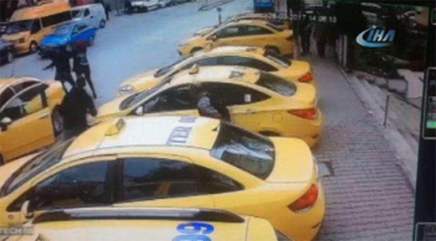 Taksici dehşeti güvenlik kamerasında